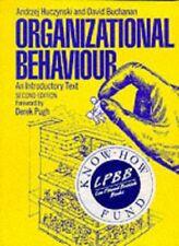 Organizational Behaviour: An Introductory Text By Andrzej Huczy .9780136398998