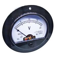 Us Stock Dc 0 20v Round Analog Volt Pointer Needle Panel Meter Voltmeter
