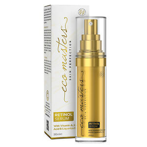 Retinol Face & Eye Serum 30ml With Hyaluronic Acid for Wrinkles and Dark Circles