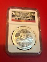 OFFICIAL MINT MEDAL 2014 CHINA 1OZ SILVER PANDA SMITHSONIAN INSTITUTION NGC PF70