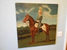 ANTIQUE 19THC OIL PAINTING, CANADIAN MILTARY GOV. GENERAL HORSE GUARDS OFFICER
