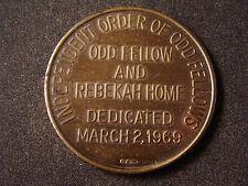 Independent Order Of Odd Fellows medal Rebekah Home Dedication 1969