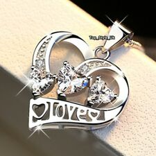 Silver 925 Love Necklace Girlfriend Girls Wife VALENTINES DAY GIFTS FOR HER J675