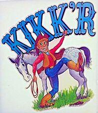 Original Vintage Kikk'R Horse Iron On Transfer