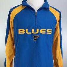 ST. LOUIS BLUES NHL HOCKEY RETRO 1/4 ZIP PULLOVER JACKET MENS SIZE L