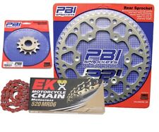 PBI MRD Red 15-43 Chain/Sprocket Kit for Kawasaki KL250 Super Sherpa 00-03