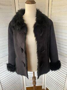 Black Vintage Fur Jacket
