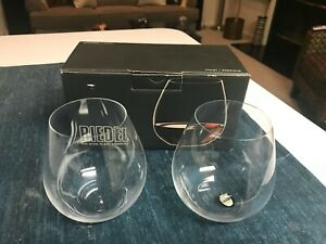 SET of 2 SUPERB Riedel O PINOT WINE TUMBLERS Stemless Glasses MINT IN BOX