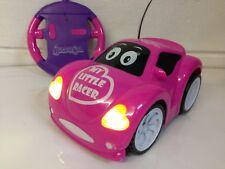 Girls Pink Beetle RC Radio Remote Control Car LED Lights Boxed - Girls Xmas Gift