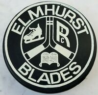 ELMHURST BLADES RIC HOCKEY PUCK OFFICIAL COOPER MADE IN CZECHOSLOVAKIA