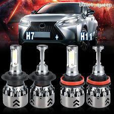 H7 + H11 LED Headlight Kit Hi/Lo Beam for Ford Escape 2005-2007 Fusion 2006-2017