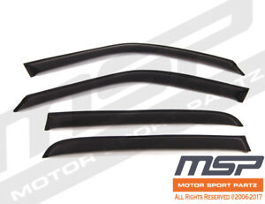 4pcs Dark Smoke Out-Channel Visor Rain Guards For Plymouth Acclaim 1989-1995