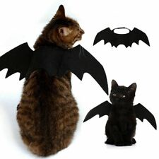 Dog Cat Cosplay Clothing Costume Black Bat Wing Halloween Party Wear Pet Decor