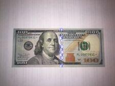 2017 A series 100 dollar bill star note   PL00970831*
