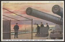 "Royal Navy. ""Britain Prepared"" Series Postcard #09. Sunset on the North Sea"