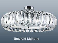 Round crystal prisme chrome plafonnier encastré plafonnier Tore pendentif 63 cm