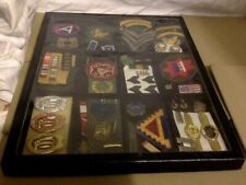 "Collection Variety of Military Sets, Medals & Related in 12"" x 16""  Glass Case"
