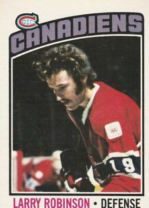 1976-77 OPC #151 LARRY ROBINSON, CANADIENS, EX-MT