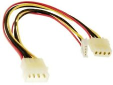"6"" 4 pin Molex Male~Floppy Drive & 4pin Female Power Y Splitter Cable/Cord/Wire"
