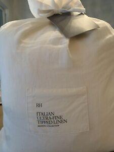 RH Restoration Hardware Italian Ultra Fine Tipped Linen Full / Queen Duvet