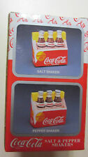 vintage Coca-Cola Brand Salt & Pepper Shaker Set (Six Pack)New in Box