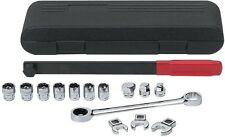 Ratcheting Wrench Serpentine Belt Tool Set Long Bar Sockets Tensioner GearWrench