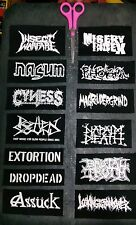 Napalm death nasum phobia dropdead grindcore metal sew on patches lot