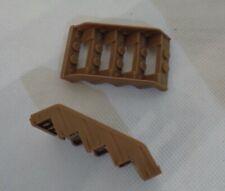 Megabloks Dragon Krystal Wars spare parts - AM02631 Stairs Brown - set of 2