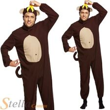 Adult Monkey Ape Chimp Animal Banana Fancy Dress Costume Stag Do Outfit