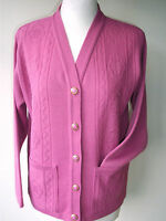 LADIES,WOMENS,LADYS,PINK,V-NECK CARDIGAN WITH POCKETS,LONG SLEEVES