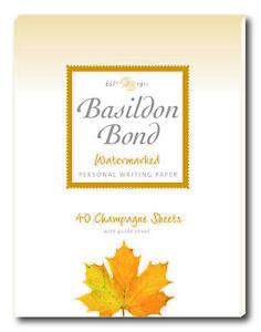 BASILDON BOND Champagne Writing Paper - Pad of 40 Sheets of Duke Paper