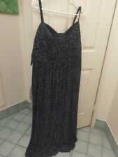 city chic formal dress large womens leopard print black blue shimmer