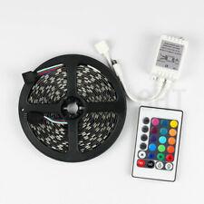 SUPERNIGHT® 5M 300Leds 5050 RGB Black PCB LED Strip Non-Waterproof+24Keys Remote