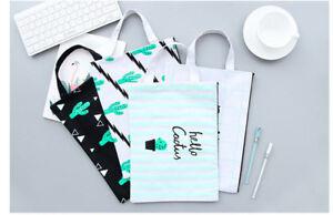 Cactus File Bag kawaii cartoon succulents document holder cute school pouch bag