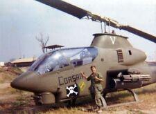Vietnam War U.S. Army Cobra Corsair Attack Helicopter Old Grainy 8.5x11 Photo