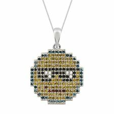 New Pave Prive Diamond & 9ct Yellow Gold Sunglasses Emoticon Necklace RRP £250