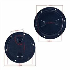 """Pair! 4"""" Boat Round Non Slip Inspection Hatch with Detachable Cover 143mm Black"""