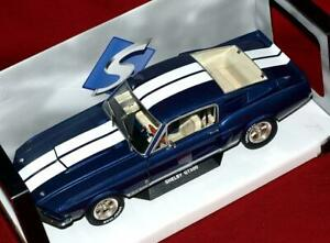 1:18 1967 Shelby Mustang GT500 - Blue with Light Grey Stripes Diecast by Solido