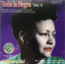Tona La Negra Cancionera Naci Vol II Bolero CD BMG 1996 Puerto Rico MINT