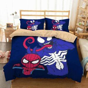 Spiderman and Venom Duvet Cover Set Double