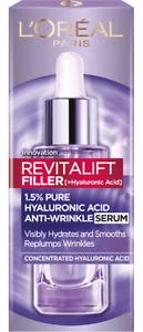 L'Oreal Face Serum Revitalift Filler Anti Wrinkle Hyaluronic Acid Hydrates 30 ml