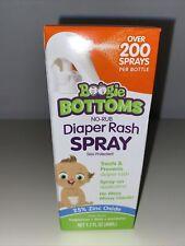 New listing Diaper Rash Cream Spray by Boogie Bottoms 200 Sprays No-Rub Skin Protectant 1.7