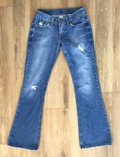Lucky Brand Womens 24 Flare Jeans Factory Destroyed Distressed 100% Cotton B2754