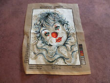 "Needlepoint Sampler Complete Ready to Frame 12 3/4 x 15 1/2"" Finished Area Clown"