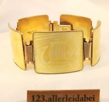 NM Thune Emaille Armband 925 er Silber Emaile old silver enamel bracelet / AN457