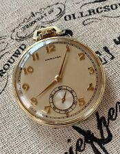1947 Hamilton 921, 21j, Mdl.1, 10s Pocket Watch in a Hamilton 14k GF Dbl Bk Case