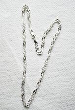 Silber Kette Singapur 5 mm breit 46 cm lang  925/1000  Zier kette/Anhänger Kette