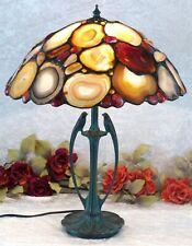 Luxus Achatlampe Tischlampe Edelstein Lampe Bernstein Leuchte Tiffany Achat Neu