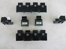 12 Pack Cat-3 RJ11 Phone Telephone Keystone Jacks in Black *TUFF JACKS QUALITY*