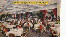 Postcard The Candle Light Room Hotel Victoria New York Ny